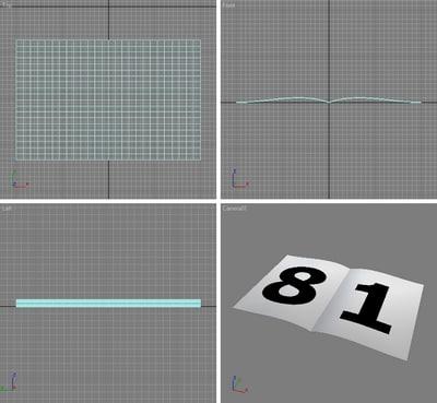 free max model morph loop page flip