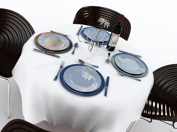 restaurant table 3d model