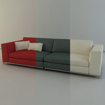 3d italian sofa minotti albers model