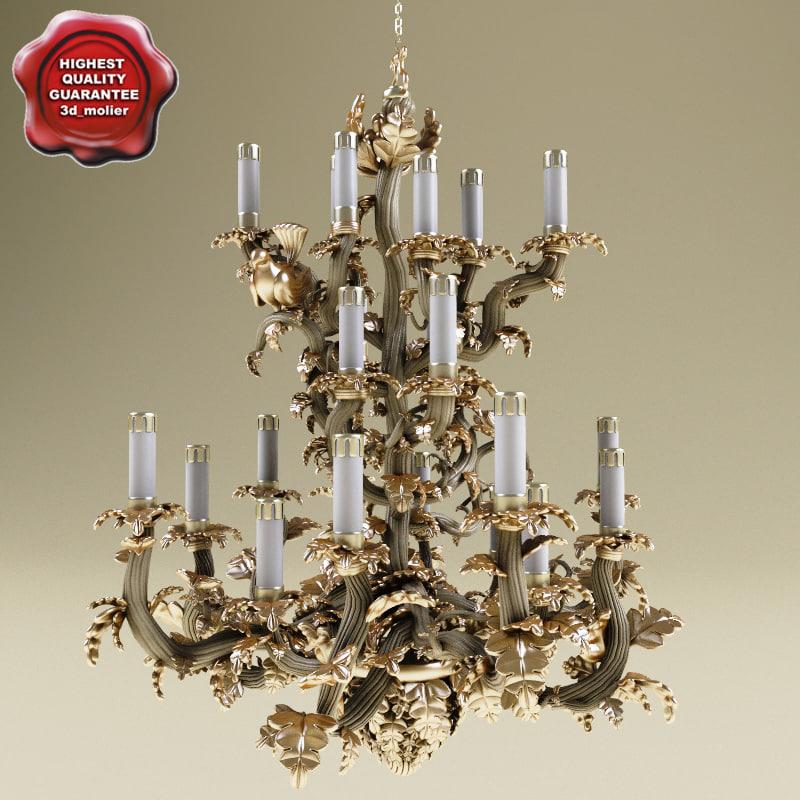 chandelier classic flower 3d model