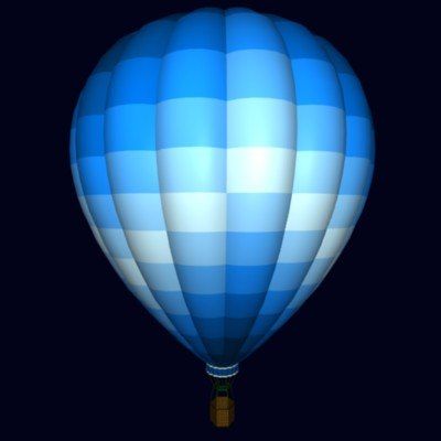 free 3ds model hot air balloon
