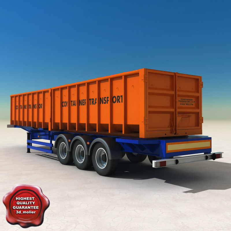 container trailer 3ds