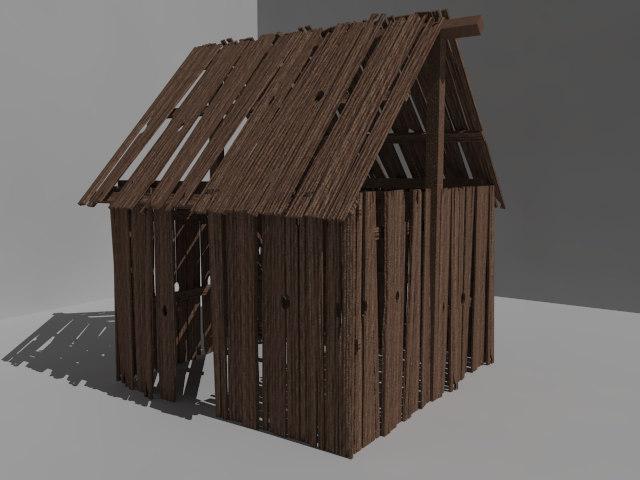 3d model outbuilding building