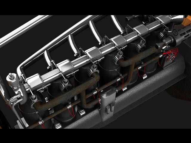 3d model engine albatros