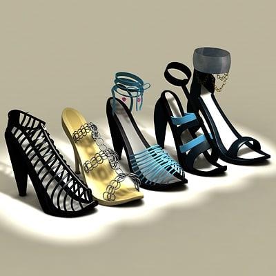woman shoe 3d c4d