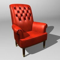 3ds leather easy chair