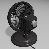 3d electric fan model