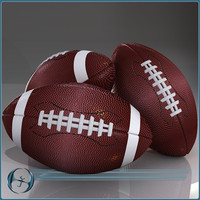 football pigskin 3d model