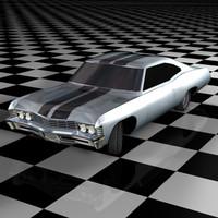 chevrolet impala 67 3d model