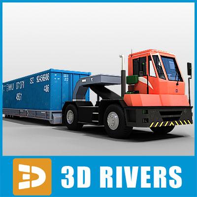 3ds max terminal truck trailer