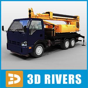 machine vehicle boring truck 3d max