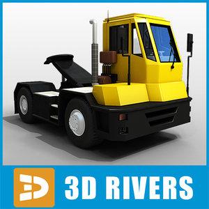 3ds max terminal truck trailer 01