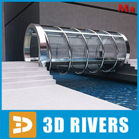 3d model glass bridge