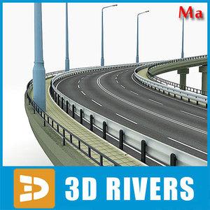 bridge descent highways road 3d model