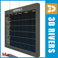 3d arrival indicator board airport