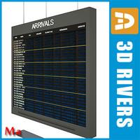 Airport indicator board 1 v1