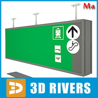 Airport sign 02 v1 by 3DRivers