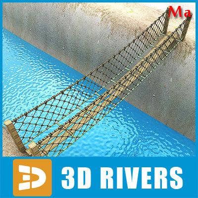 bridge ropes 3d model