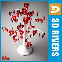 tree hearts 3d fbx