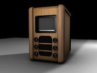 vintage television set 180 3d c4d