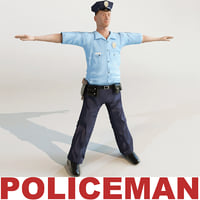policeman modelled 3d model