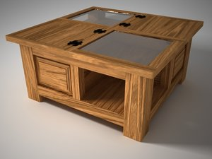 rustic furniture 3d model