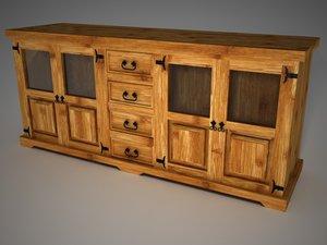 3d model of rustic furniture aparador