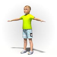 Child boy 1005~Rigged human model