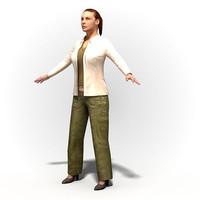 Woman 1002~Rigged human model