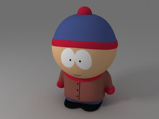 3d model of stan marsh south park
