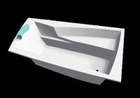 3ds max asymmetrical bath arra sanotechnik