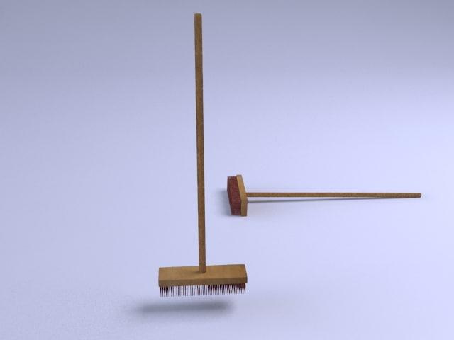 free broom 3d model
