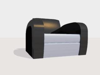 3d model arm chair