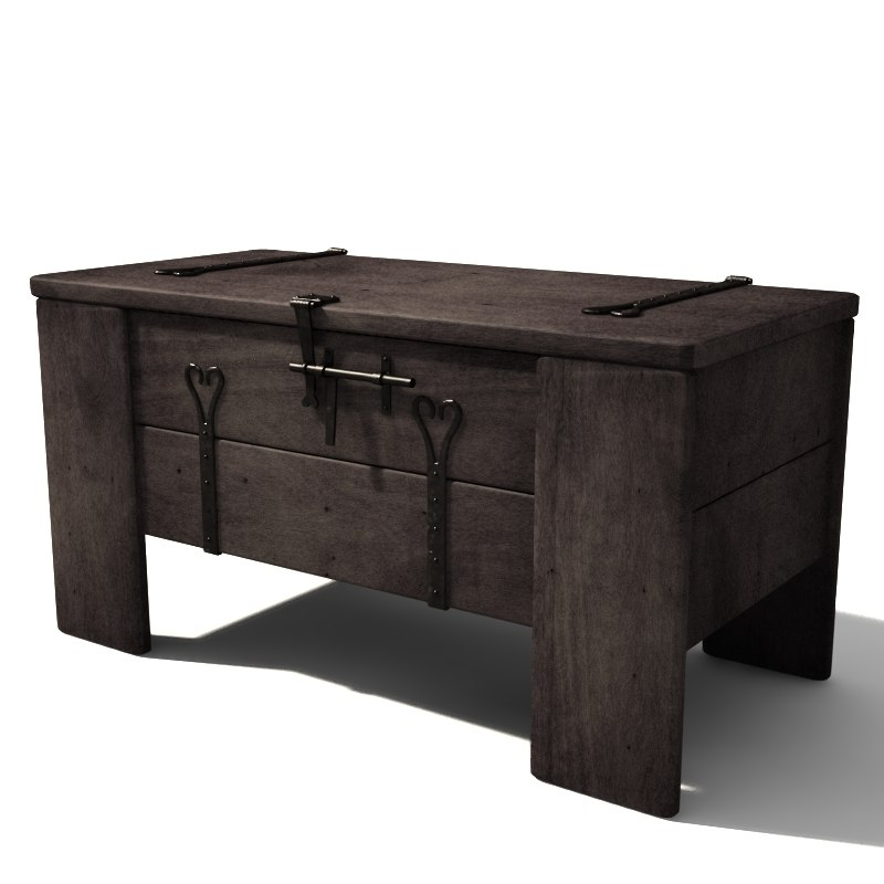 3d old chest model