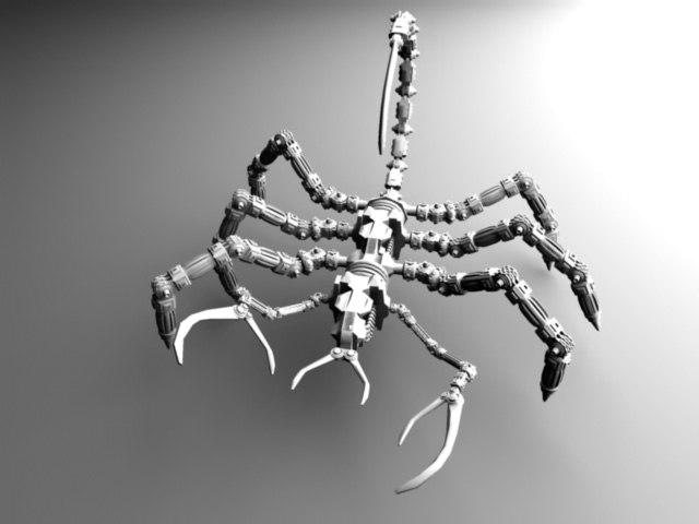 3d cybernetic scorpion model