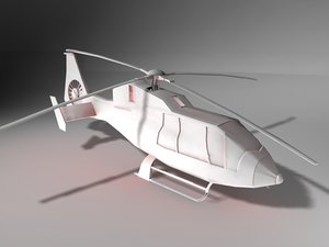 3d eurocopter helicopter model