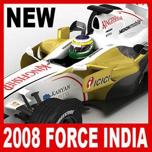 2008 1 force india 3d max