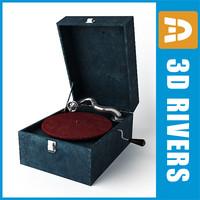 3ds max retro gramophone