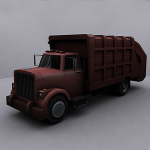 3d ready garbage truck model