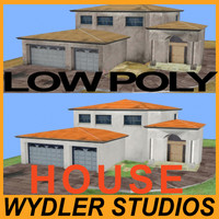 3d house low-poly abandoned