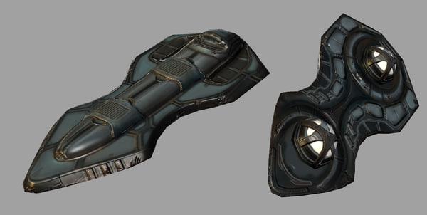 hoverboard sci-fi 3d obj