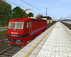 3d loco type skoda e85 model