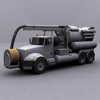 ready jetter truck 3d model
