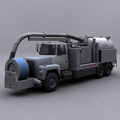 3d model ready jetter truck 2