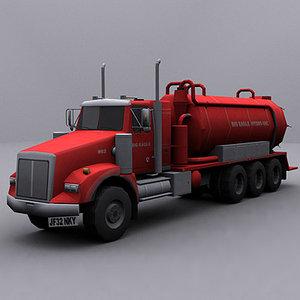3d model ready jetter truck