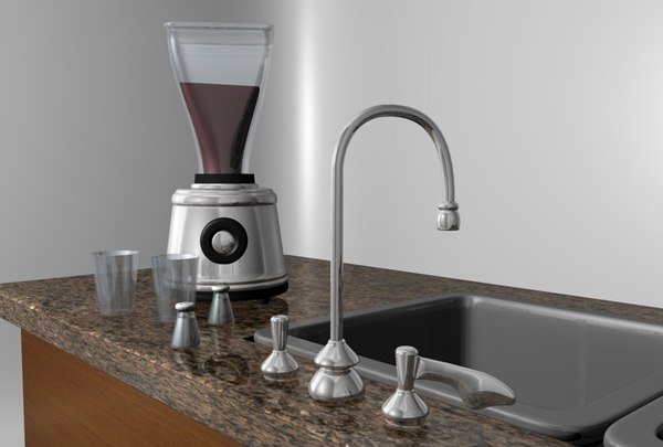 3d model kitchen island