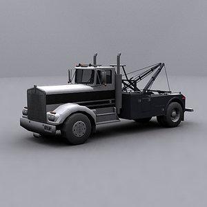 3d ready wrecker tow truck