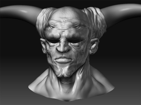 3ds max demon head