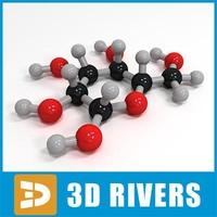 mannose molecule structure 3d model