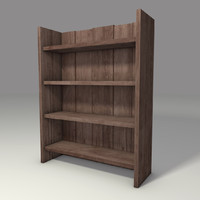 3ds rustic bookcase